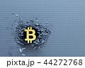 ビットコイン 記号 標識のイラスト 44272768