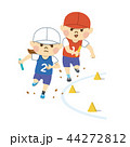 運動会 リレー 走るのイラスト 44272812