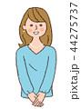 人物 若い 笑顔のイラスト 44275737