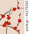 紅梅 梅 梅の花のイラスト 44276265
