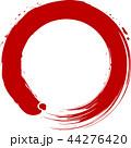 丸 円 赤のイラスト 44276420