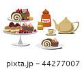 ロールケーキ スィーツ お菓子のイラスト 44277007