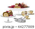 クリスマスケーキ ロールケーキ クリスマスのイラスト 44277009