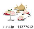 クリスマスケーキ ロールケーキ クリスマスのイラスト 44277012