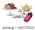 ロールケーキ クリスマス お菓子のイラスト 44277014