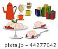 クリスマスケーキ ロールケーキ クリスマスのイラスト 44277042