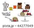ロールケーキ スィーツ お菓子のイラスト 44277049