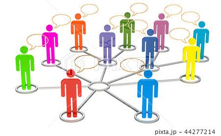 Social media, network communication concept 44277214