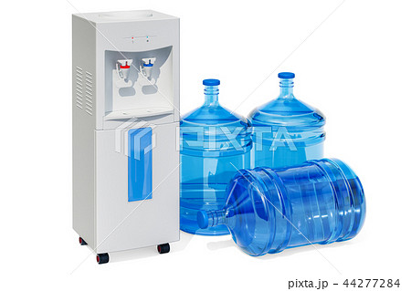 Water cooler with water dispenser bottles 44277284