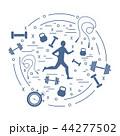 ヒューマン ジョギング 生活習慣のイラスト 44277502