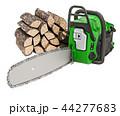 チェーンソー ウッド 木材のイラスト 44277683