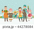 冬の家族-積雪 44278084