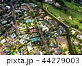 《ハワイ》ホノルル上空・ゴルフ場と住宅街《航空写真》 44279003