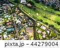 《ハワイ》ホノルル上空・ゴルフ場と住宅街《航空写真》 44279004