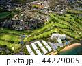《ハワイ》ホノルル上空・ゴルフ場と住宅街《航空写真》 44279005
