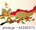 年賀状 和柄 ベクターのイラスト 44280571