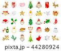 クリスマス 水彩 アイコンのイラスト 44280924