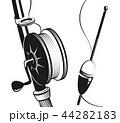 釣り竿 山車 浮くのイラスト 44282183