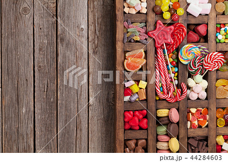 Colorful sweets box 44284603