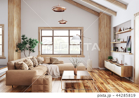 Interior of modern living room 3d rendering 44285819