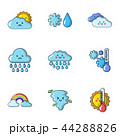天気 気象 天候のイラスト 44288826