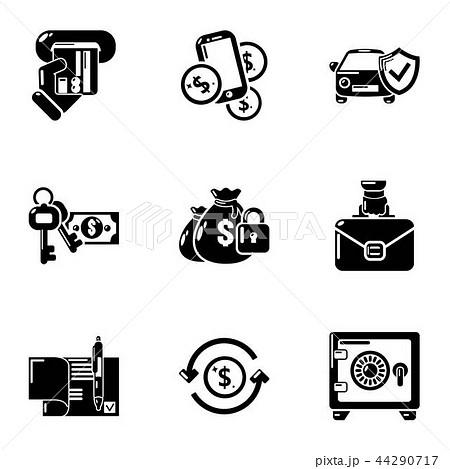 Needful icons set, simple style 44290717