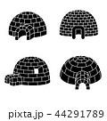 イグルー アイコン セットのイラスト 44291789