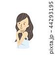 女性 笑顔 ポーズのイラスト 44293195