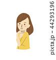 女性 笑顔 ポーズのイラスト 44293196