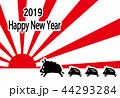 亥年 Happy New Year テンプレート 44293284
