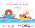 亥年-年賀状テンプレート 44295811