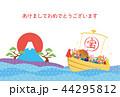 亥年-年賀状テンプレート 44295812