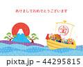 亥年-年賀状テンプレート 44295815