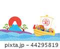 亥年-年賀状テンプレート 44295819