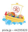 亥年-年賀状素材 44295820