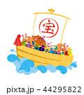 亥年-年賀状素材 44295822