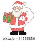 サンタ サンタクロース クリスマスのイラスト 44296830
