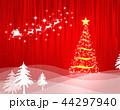 クリスマス クリスマスツリー 雪のイラスト 44297940