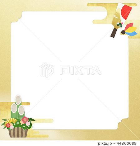 和-和風-和柄-和紙-背景-門松-羽子板-金箔-正月 44300089