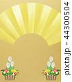 門松 背景 コピースペースのイラスト 44300504