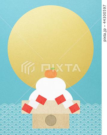 和-和風-和柄-和紙-背景-鏡餅-金箔-正月 44300597