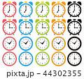 時計 時間 アイコンのイラスト 44302355