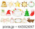 フレーム クリスマス 枠のイラスト 44302697