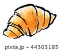 白背景 墨絵 筆描きのイラスト 44303185