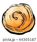 白背景 筆タッチ 筆描きのイラスト 44303187