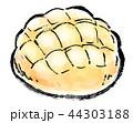 白背景 筆描き パンのイラスト 44303188