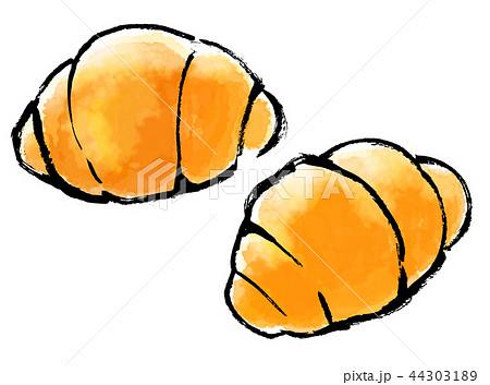 筆描き パン ロールパンのイラスト素材 44303189 Pixta