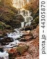 waterfall Shypot of Carpathian mountains in autumn 44305870
