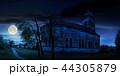abandoned catholic church on hill at night 44305879
