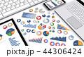 チャート ビジネス タブレットのイラスト 44306424